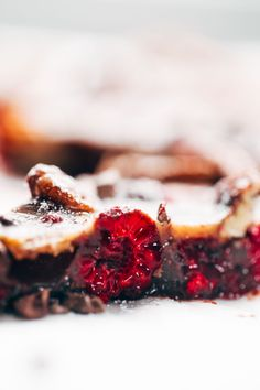 Chocolate Raspberry Almond Butter Bars