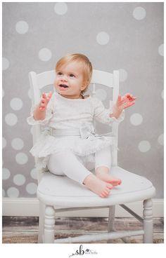 One Year Portraits, one year old, birthday, studio, portrait, child, toddler, baby, new bern, sera bella photography, girl