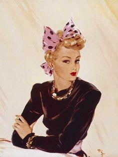 Fashion/Pinup art by David Wright 1940's