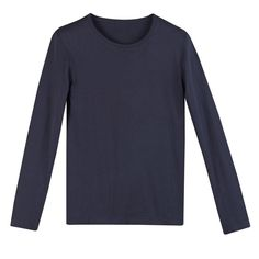 Gładki t-shirt z okrągłym dekoltem i długim rękawem R Édition | La Redoute