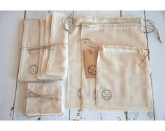 Pack discovered zero waste cotton bio bags bulk by minipopfr Zero Waste Store, Reduce Reuse Recycle, Produce Bags, Reduce Waste, Coton Bio, Green Life, Reusable Bags, Sustainable Living, Sustainability