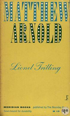 Matthew Arnold cover by Alvin Lustig by Scott Lindberg, via Flickr