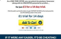 How to make money from Football Accumulator bets, never lose again with this football betting system.