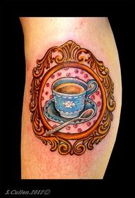 drinking tea Tattoo | Tattoo Tea Cup