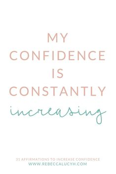 These 31 affirmations for positive thinking will boost self confidence and self empowerment. Say these affirmations daily to increase confidence and reduce anxiety. These affirmations for women are a confidence booster to assist confidence building and i Increase Confidence, Self Confidence Tips, Confidence Boosters, Confidence Building, Affirmations For Anxiety, Affirmations For Women, Affirmations Positives, Self Esteem Affirmations, Inspiration Entrepreneur
