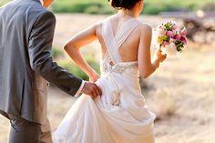 Crossback wedding dress