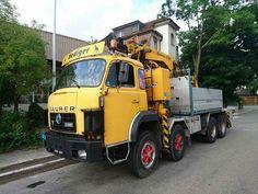 Heavy Duty Trucks, Classic Trucks, Vehicles, Europe, Construction, Vintage, Switzerland, Old Vintage Cars, Crane Car