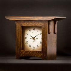 Craftsman Style Mantel Clock on Etsy, $225.00