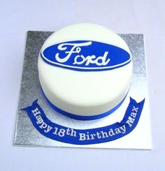 Car Themed Parties, 18th Birthday Cake, Pretty Cakes, Car Party, Ford, Birthday Ideas, Wedding, Tractors, Beautiful Cakes