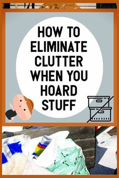 8 Decluttering Tips for Hoarders & Pack Rats - Simple Clutter Control Help - Do you have too much STUFF and piles of clutter EVERYWHERE in your messy cluttered house? Good news - Getting Organized At Home, Getting Rid Of Clutter, Declutter Home, Declutter Your Life, Hoarder Help, Home Organization Hacks, Organizing Tips, Decluttering Ideas, Bathroom Organization
