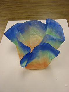 Chihuly bowls without special products - just coffee filters and liquid starch.