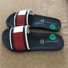 e87be50d Shop Women's Tommy Hilfiger size 8 Sandals at a discounted price at  Poshmark. Description: New with tags size 8 Tommy Hilfiger slides with  iconic signature ...
