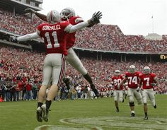 2004 The Ohio State University vs that team up north.  Gonzales celibrates
