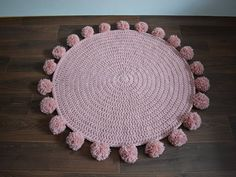 MODEL NO. 43 - VINTAGE CROCHET - POMPOM RUG Isnt it nice to feel soft touch under your feets? To feel comfort while sitting on the floor? Very soft and thick rug is not only comfortable but also makes your room soundproof. Created for the love of beauty to make any your interior