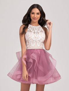 Short Tulle A-line Dress with Fun Cascading Skirt