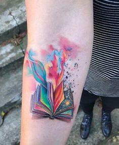 I love this tattoo<3 Neue Tattoos, Body Art Tattoos, Girl Tattoos, Small Tattoos, Sleeve Tattoos, Tattoos For Women, Tattoo Ink, Bookish Tattoos, Harry Potter Tattoos