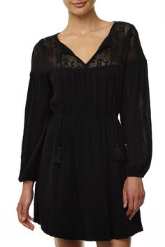 The Jacinta is a smock style loose fitting mini dress with elastic waist and tie…