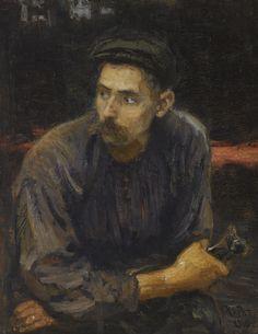 Ilya Repin - Portrait of a Worker, 1919