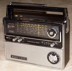 Vintage Sony Multi-Band Radio, Model TFM-8000W, 6 Bands, Made In Japan, Circa 1975. [I have one of these that still works. Cool radio. See my youtube video. Link below.] http://youtu.be/Zou9hLZtGkQ