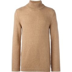 Roberto Collina turtle neck jumper (305 CAD) ❤ liked on Polyvore featuring men's fashion, men's clothing, men's sweaters, beige, mens turtleneck sweater and men's polo neck sweaters