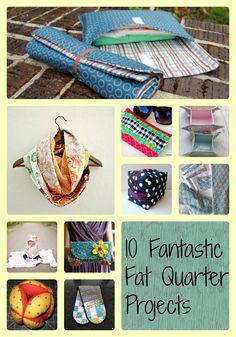 Here is a roundup of 10 fantastic fat quarter projects to help even the most severe fabric hoarder destash those fat quarters! Diy And Crafts Sewing, Easy Sewing Projects, Sewing Projects For Beginners, Sewing Hacks, Sewing Tutorials, Fabric Crafts, Sewing Patterns, Sewing Ideas, Sewing Tips