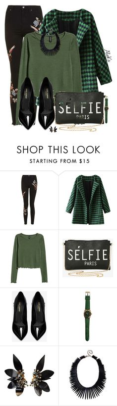 """Short Top"" by alinka-happily ❤ liked on Polyvore featuring Topshop, Torrid, Yves Saint Laurent, Marni and Kenneth Jay Lane"