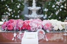 pink ombre flowers
