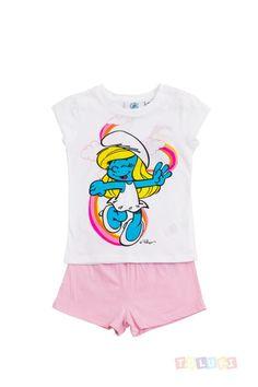 Pyjama Fille Schtroumpf Arc en ciel | http://www.toluki.com/prod.php?id=389 #Toluki #enfant