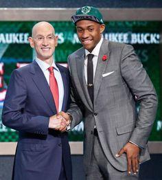 Jabari Parker with NBA Commissioner Adam Silver : NBA Draft 2014