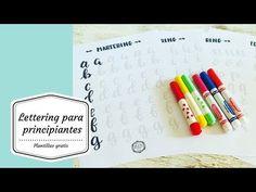(2) Lettering para principiantes con plantillas gratis, free - YouTube