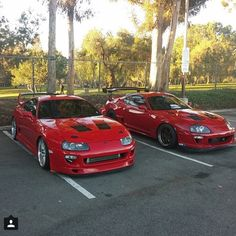 Sexy in Red! I'll have one of each plz thaaank u Toyota Supra Mk4, Toyota Celica, Tuner Cars, Jdm Cars, Team Toyota, Drifting Cars, Import Cars, Japan Cars, Sexy Cars
