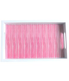 Design Darling home decor & monogrammed gifts — Pink Stripe Tray