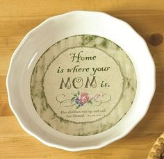 ceramic pie plates | Home Is Where Mom Is Decorative Ceramic Pie ... | Pie Keepers & Plates