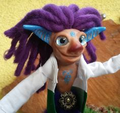 """He is inspired by Dee Schillers book """"Faemaker"""". Polymer Clay, Inspired, Create, Book, Fictional Characters, Inspiration, Art, Figurine, Birthday"""