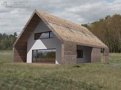 Natural home.  The house was designed after a detailed analysis of the sun, wind, and taking into account any other major on a plot of eco factors. Double façade protects the natural plasters, prevents the walls from cooling down by winds and ensures optimum sunlight, preventing overheating in the summer. The house will be elevated using straw timbered panels by Dobry Dom. Other materials of construction and finishing goodnight with special care and attention to health and the environment…