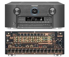 Marantz Intros Its Top-of-the-Line AV Preamp/Processor for 2015 - The AV8802: Marantz AV8802 AV Preamp/Processor - Front/Rear Views High End Audio Audioohile Stereo