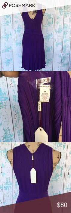 """NWT M.S.S.P. Max Studio Specialty Products dress NWT M.S.S.P. Max Studio Specialty Products purple sleeveless dress size medium. Ribbed and stretchy with waist accent. Due to lighting color closest to pic of tag.    🍥Bundle deals available (I carry various sizes and brands in my closet): 2 items 10% off, 3 items 15% off, 4 items or more 20% off.  🍥No trades, modeling, or lowball offers please. 🍥All reasonable offers accepted only through """"offer"""" button. Please submit offer willing to pay…"""