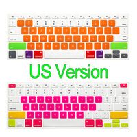 US Enter Luxury Colorful 0.2mm Ultra Slim Silicone Candy Colors Keyboard Cover For Macbook Air 11 13 Pro 13 15 Pro 13 15 Retina