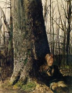Andrew Wyeth, 'Seated by a Tree,' 1973, 22.875x22.5 ,Adelson Galleries