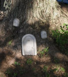 New Concrete Gnome or Fairy Door with 2 Window. by PourBoyCeramics, $29.99
