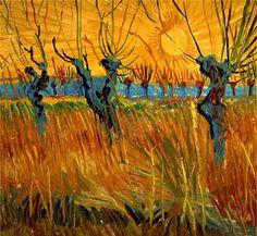 Pollard Willows With Setting Sun  1888; Kroller-Müller Museum, Otterlo.
