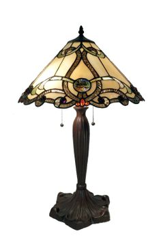 Amazon.com: Tiffany NSC161228-A877 Amber Octavian Table Lamp: Home Improvement $148