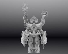 """contemporary Buddhism statue series """"Shoumen-Kongo"""" will be 3D printed soon!"""
