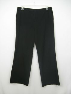 f3e13a5837ef Chico's Dress Pants Women Size 2 Regular Black Wide Leg Flat Front Zip  Chicos #Chicos #Wide #Work
