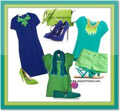 Neobvyklé kombinácie farieb - Zelená a modrá