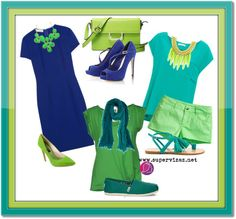 Neobvyklé kombinácie farieb - Zelená a modrá - Supervizáž