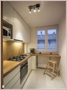 50 Cozy Small Kitchen Design Ideas On A Budget. Are you stuck with a small kitchen but you have some big ideas? Do you have kitchen envy and you wish that you had the counterspace and floor space that. Apartment Kitchen, Home Decor Kitchen, Kitchen Interior, New Kitchen, Home Kitchens, Kitchen Ideas, Kitchen Small, Small Kitchens, Apartment Ideas