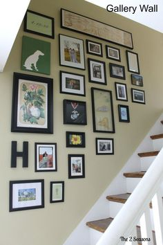 How to do a gallery wall going up the steps.