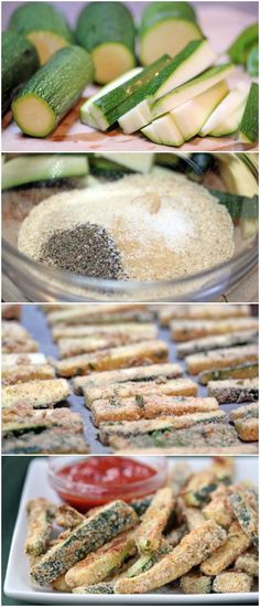 Baked Zucchini Sticks ~ delicious, easy, and healthy!   5DollarDinners.com
