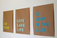 DIY Stencil Wall Art - Perfect for all sorts of #sorority signs!